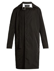 Raf Simons Collar Strap Single Breasted Coat Black