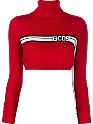 Gcds Logo Band Cropped Jumper Red
