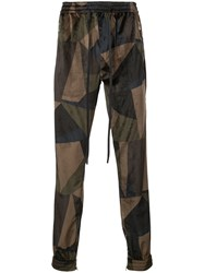 God's Masterful Children Abstract Track Pants Green
