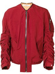 Mr. Completely 'Shell' Bomber Jacket Red