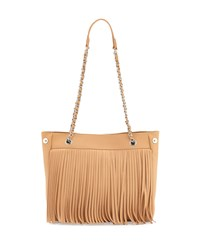Posse Jayme Fringe Leather Tote Bag Butterscotch