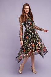 Eva Franco Marielle Floral Dress Black White