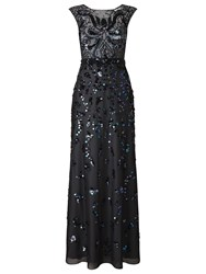 Phase Eight Collection 8 Betsy Sequinned Full Length Dress Petrol Blue