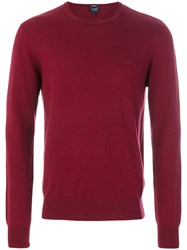 Armani Jeans Crew Neck Jumper Cotton Wool Xxl Red