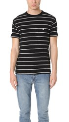 Todd Snyder Thick Stripe Classic Pocket Tee Black