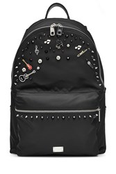 Dolce And Gabbana Embellished Fabric Backpack