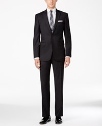 Calvin Klein Men's Extra Slim Fit Neat Charcoal Suit