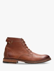 Clarks Clarkdale Bud Leather Boots Dark Tan