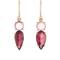 Irene Neuwirth Women's Pink Tourmaline Double Drop Earrings No Color