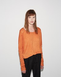 Humanoid July Solid Tee Pumpkin