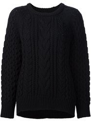 Nili Lotan Cable Knit Jumper Black