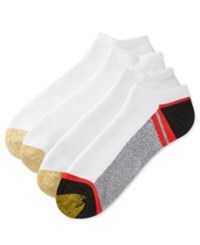 Gold Toe Men's Socks Athletic Cushion No Show 4 Pack Asst 11
