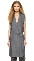 Rag And Bone Harold Vest Indigo