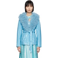Saks Potts Ssense Exclusive Blue Ritual Jacket