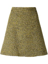 Paul Smith Ps By Dogtooth Pattern Skirt Yellow And Orange