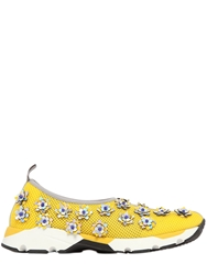 Sarah Summer 20Mm Hydro Flowers On Mesh Sneakers Yellow