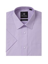 Skopes Easy Care Formal Short Sleeve Shirts Lilac