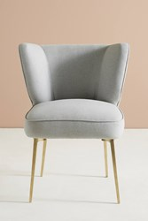 Anthropologie Performance Wool Clemence Dining Chair Light Grey
