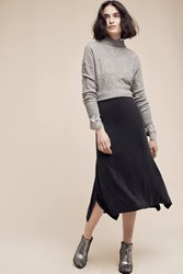 Anthropologie Rilke Midi Skirt Black