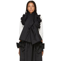 Comme Des Garcons Girl Black Ruffle Scarf