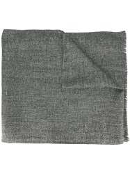 Brunello Cucinelli Tweed Scarf Grey