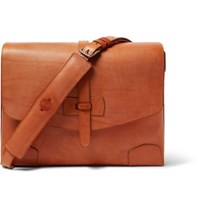 James Purdey And Sons Sporter Leather Messenger Bag Tan