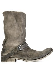 Ma Buckle Detail Boots Grey