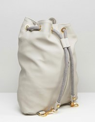 Mi Pac Tumbled Swing Backpack In Faux Leather Grey