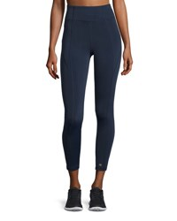 Aurum Paneled High Rise Leggings Navy Gray