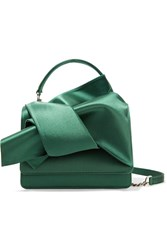 N 21 No. Knot Satin Shoulder Bag Jade