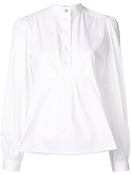 Paul Smith Ps By Plain Structured Blouse White