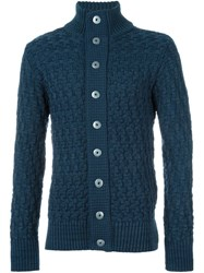 S.N.S. Herning Stark Textured Cardigan Blue