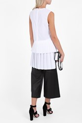 Adam By Adam Lippes Women S Pleated Back Tunic Boutique1 White