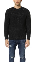 Steven Alan Heavy Crew Neck Sweater Black