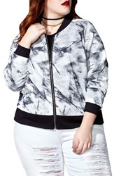 Mblm By Tess Holliday Plus Size Women's Mesh Bomber Jacket