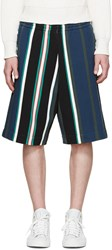 Msgm Multicolor Striped Shorts