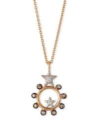 Kismet By Milka Eclectic Star Circle Necklace With Diamonds