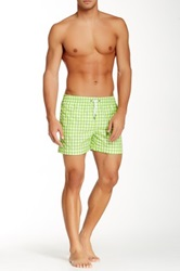 Parke And Ronen Gingham Volley Short Green
