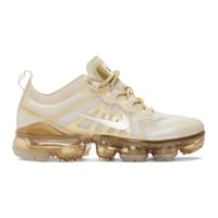 Nike Off White And Beige Air Vapormax 2019 Sneakers