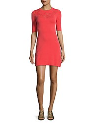 Karen Millen Stretch Knit Sheath Dress Pink