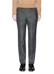 Tomorrowland Slim Fit Wool Hopsack Pants Grey