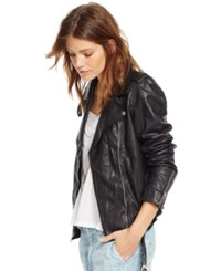 Denim And Supply Ralph Lauren Leather Motorcycle Jacket Polo Black