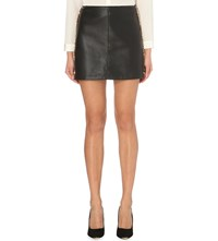 Ted Baker Wyred Faux Leather Mini Skirt Black