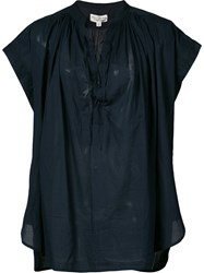 Nili Lotan Voile Andres Top Blue