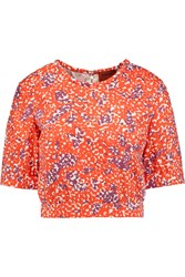 Missoni Cropped Printed Shell Top Red
