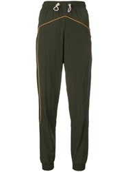 Mira Mikati Piped Technical Track Pants Green