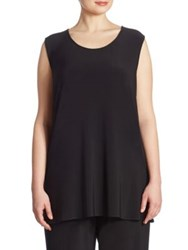 Caroline Rose Knit Long Tank Top Black