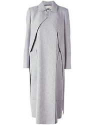 Maison Rabih Kayrouz Long Layered Coat Grey
