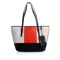 Nine West Ava Tote Md White Red