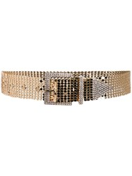 B Low The Belt Sequin Crystal Studded Gold